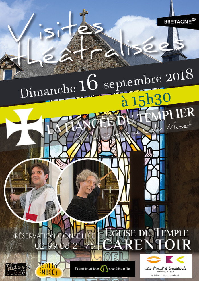 Journées du patrimoine 2018 - Visite théâtralisée de l'église du Temple - Carentoir