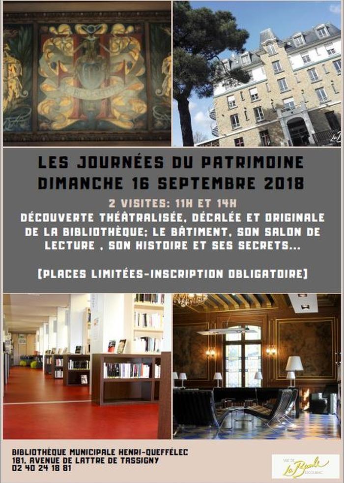 Journées du patrimoine 2018 - Visite Théatralisée de la Bibliothèque Henri Queffélec