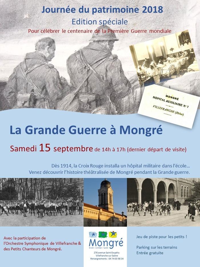Journées du patrimoine 2018 - Visite théâtralisée « La Grande Guerre à Mongré »