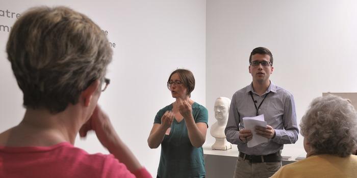 Journées du patrimoine 2018 - Visite thématique Camille Claudel traduite en LSF