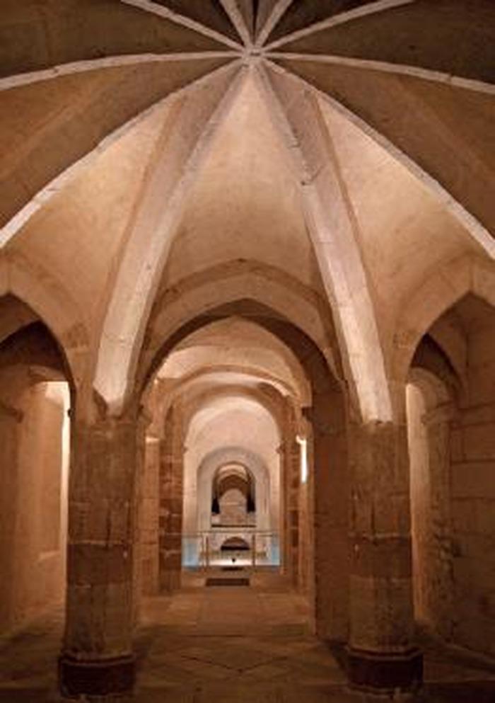 Crédits image : Vue en perspective IXè-XIIIè siècles Crypte Saint-Germain d'Auxerre/ Charlotte Cruz, Ville d'Auxerre