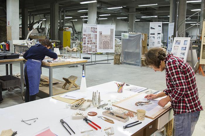 Journées du patrimoine 2018 - Visite commentée de l'atelier de restauration de mosaïques et d'enduits peints (ARM).