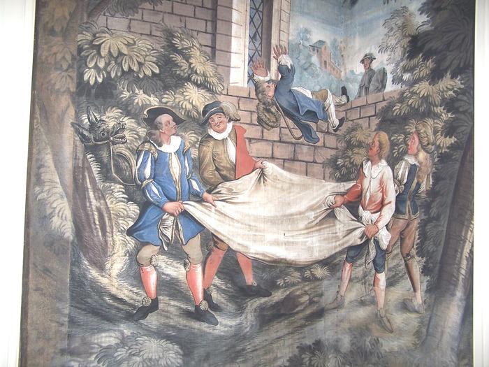 Journées du patrimoine 2018 - Visites guidées de la salle des toiles peintes du XVIIIème siècle.