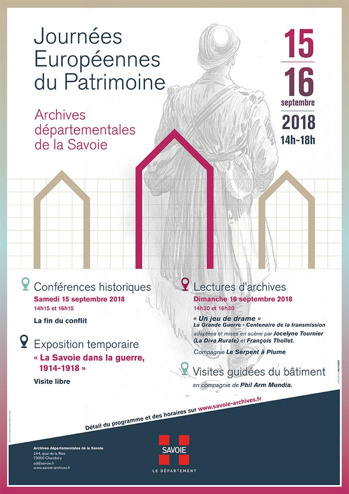 Journées du patrimoine 2018 - Visites guidées des Archives départementales.