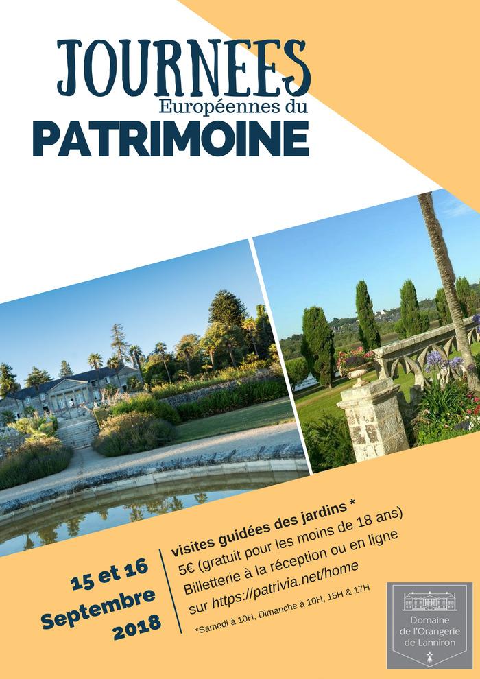 Journées du patrimoine 2018 - Visites guidées des jardins du Domaine de Lanniron