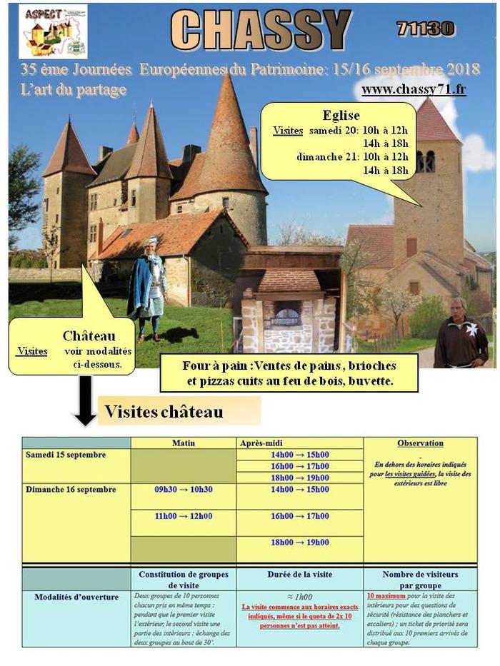 Journées du patrimoine 2018 - Visites guidées du Château (XVème) et de l'église (XIème)