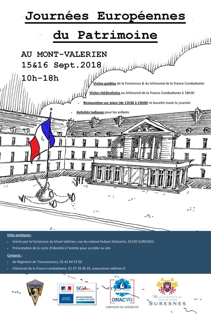 Journées du patrimoine 2018 - Visites guidées du Parcours du Souvenir et du Mémorial de la France combattante
