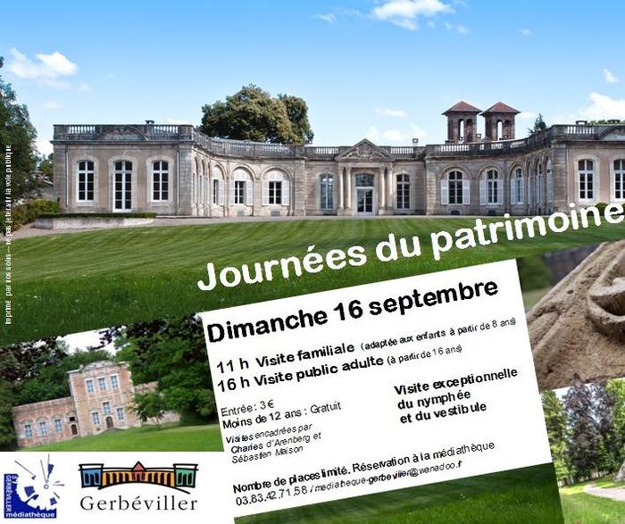 Journées du patrimoine 2018 - Château de Gerbéviller