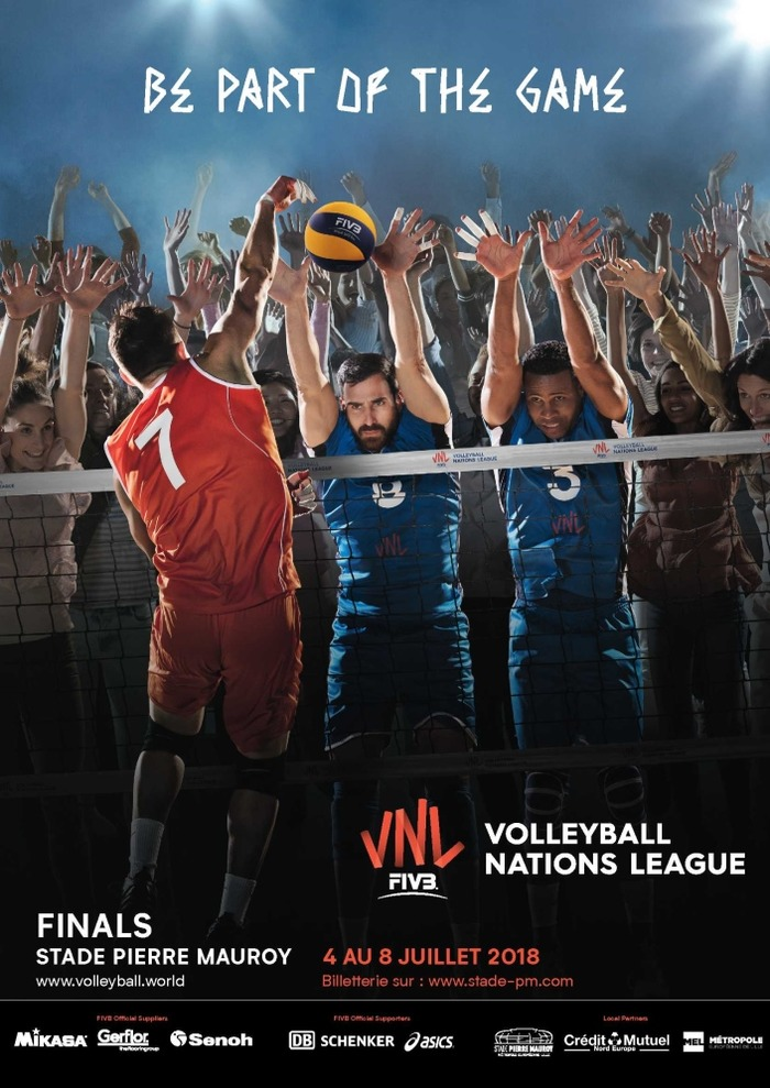 Volley Ball Nations League au stade Pierre Mauroy