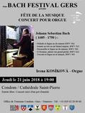Fête de la musique 2018 - 3ème Bach Festival Gers / Irena Kosikova - orgue / 333ème anniversaire de la naissance de Johann Sebastian Bach