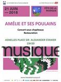 Fête de la musique 2018 - Amélie et ses Poulains