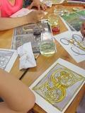 Journées du patrimoine 2016 -Atelier d'enluminures au safran