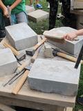 Journées du patrimoine 2016 -Atelier Taille de pierre à la citadelle de Besançon