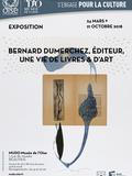 Nuit des musées 2018 -Exposition Bernard Dumerchez, éditeur, une vie de livres & d'art