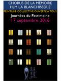 Journées du patrimoine 2016 -CHORUS DE LA MEMOIRE   HLM LA BLANCHISSERIE
