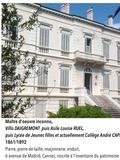 Journées du patrimoine 2016 -Collège André CAPRON ancienne Villa RUEL Cannes