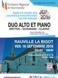 Journées du patrimoine 2016 -Concert