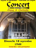 Journées du patrimoine 2016 -Concert Orgue & Clarinette - Journée du Patrimoine - Eglise St-Bernard de Fontaine les Dijon