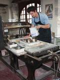 Journées du patrimoine 2016 -Démonstration de tirage d'estampes par l'artiste en résidence Vincent Croguennec et par  l'Association de l'imprimerie du musée d'Ussel,