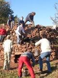 Journées du patrimoine 2016 -atelier pierre sèche
