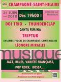 Fête de la musique 2018 - Doj trio, Canta Fémina, Léonore, Ensemble vocal de Champagné-Saint-Hilaire, Thunderclap, Tryptuk