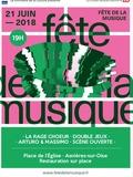 Fête de la musique 2018 - Double Jeux / La Rage Chœur / Arturo & Massimo