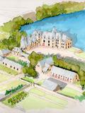 Rendez Vous aux Jardins 2018 -Exposition d'aquarelles: les châteaux du Moyen-Age en Mayenne