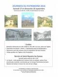 Journées du patrimoine 2016 -Exposition de panneaux illustrés développant le thème
