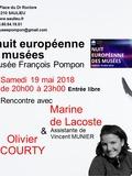 Nuit des musées 2018 -Exposition EMPREINTE Rencontre avec Olivier Courty &  Marine de Lacoste Assistante de Vincent Munier