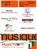 Fête de la musique 2018 - Mandeo - Praise of Folly - Pampa Jolies - Blue Dogs Trio - Maetizia