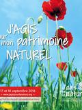 Journées du patrimoine 2016 -J'agis pour mon patrimoine naturel