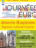 Journées du patrimoine 2016 -promenade à Is-sur-Tille