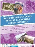 Journées du patrimoine 2016 -Juifs réfugiés en Corse pendant la Première guerre Mondiale