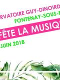 Fête de la musique 2018 - Le Conservatoire de Fontenay-sous-Bois célèbre la musique
