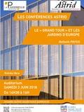 Rendez Vous aux Jardins 2018 -Conférence le « Grand Tour » et les jardins d'Europe.
