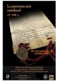 Journées du patrimoine 2016 -Le patrimoine écrit méridional du 10e au 18e siècle