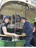 Journées du patrimoine 2016 -Le photo call à l'arrière du bus TN