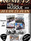 Fête de la musique 2018 - Associations musicales locales et groupes de rock