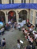 Journées du patrimoine 2016 -Les élèves du lycée franco-allemand de Buc en concert dans la cour de l'hôtel de Coulanges
