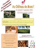 Journées du patrimoine 2016 -Les Journées Européennes du Patrimoine au Château de Mons