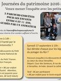 Journées du patrimoine 2016 -Les petits détectives