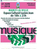 Fête de la musique 2018 - Chorales des écoles de la Garenne & Bois Maillard /Ecole municipale de musique/Palm Rock/Les Chup's/Devils Card/Le Plat Band de l'Ysieux