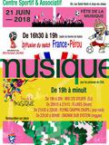 Fête de la musique 2018 - Musique sur la pelouse du Centre Sportif et Associatif