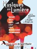 Journées du patrimoine 2016 -Musiques en Lumière, dans le chœur de l'abbatiale.