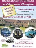 Journées du patrimoine 2016 -Rassemblement de Véhicules d'époque ou d'exception à Saint-Remy