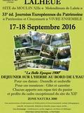Journées du patrimoine 2016 -Site du moulin XIIe -Molendinum de Laloïa-