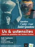 Journées du patrimoine 2016 -Us et ustensiles Objets du quotidien des fermes d'antan