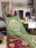 Journées du patrimoine 2016 -Visite de l'atelier de Philippe Cécile brodeur ornemaniste maitre d'art à Joigny