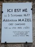 Journées du patrimoine 2016 -Maison natale d'Abraham Mazel