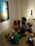 Journées du patrimoine 2016 -Visite libre interactive des expositions Titus-Carmel, peindre, écrire ; Alain Fleischer, La Lecture, sur IPad